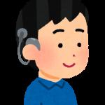 人工内耳を装用した男性のイラスト